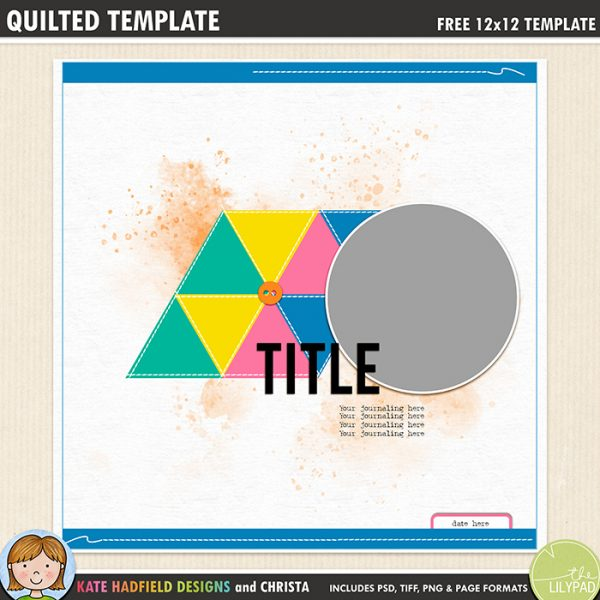 Free digital scrapbooking templates kate hadfield designs free digital scrapbook template quilted template maxwellsz