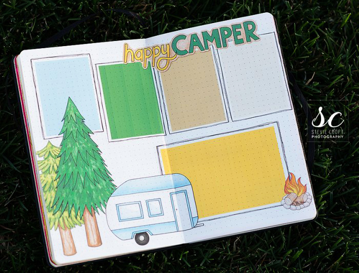 camping bullet journal