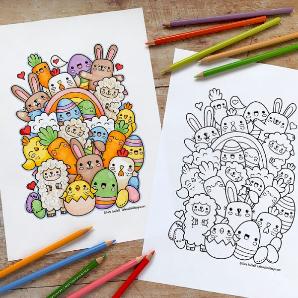 20 Best Easter Coloring Pages for Kids - Easter Crafts for Children | 600x600