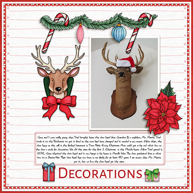 Christmas scrapbook page