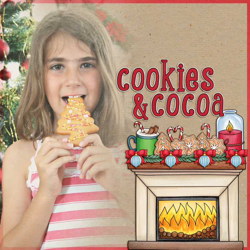 christmas cookies scrapbook page