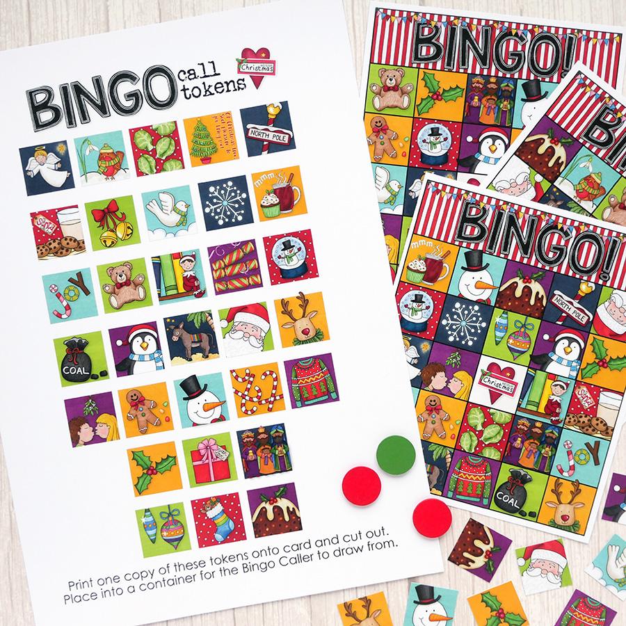 christmas bingo game cards