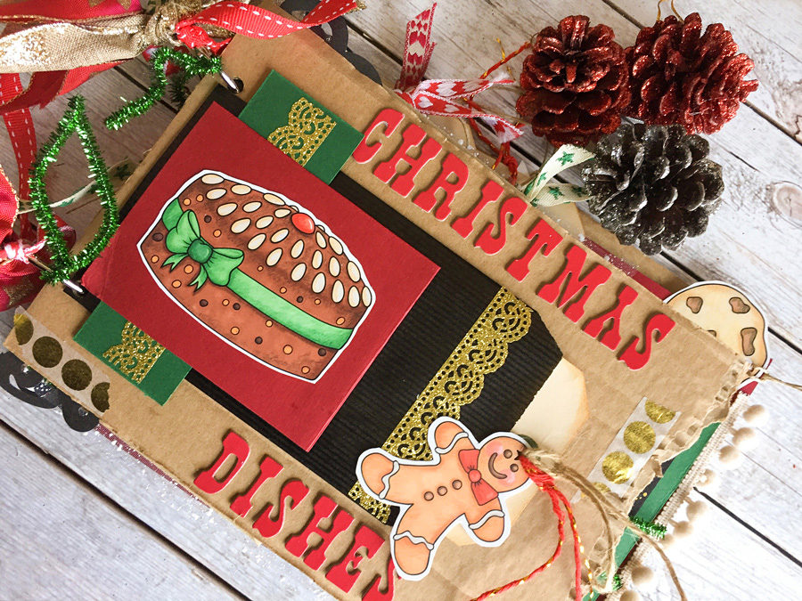 How To Make A Diy Christmas Recipe Book Junk Journal Style