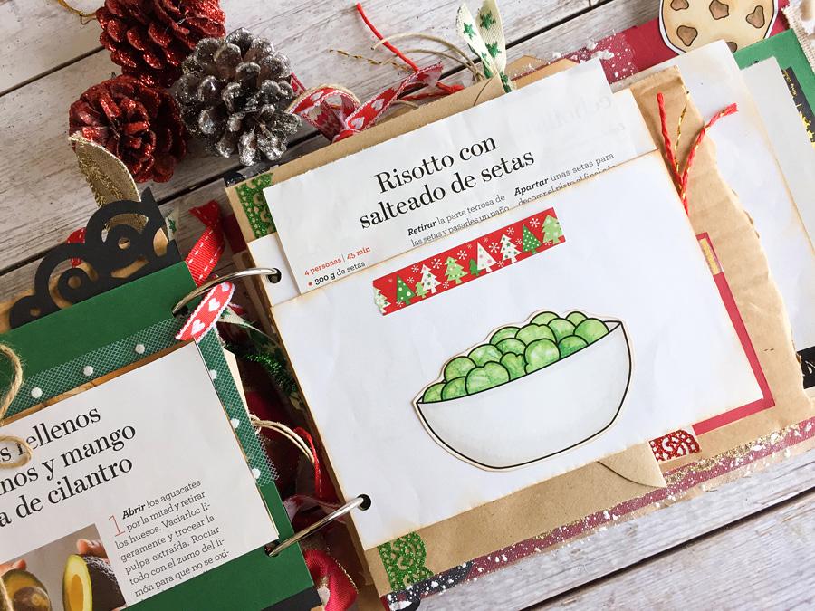 christmas junk journal recipe book