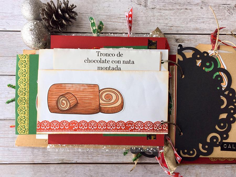 christmas recipe junk journal
